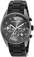 AR5889 Mens Armani Sportivo Black Chronograph Rubber Strap Watch