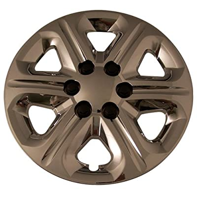 Set of 4 Chrome 17 Inch 6 Spoke Chevy Traverse Hubcaps w/ Bolt On Retention System - Aftermarket: IWC454/17C