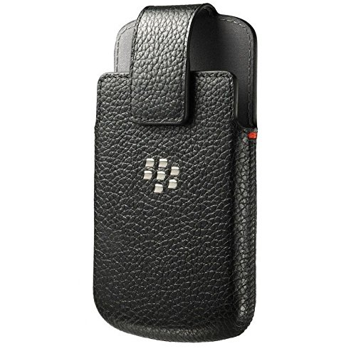 BlackBerry ACC-60088-001 Leather Swivel Holster Case for Blackberry Classic - Retail Packaging - Black