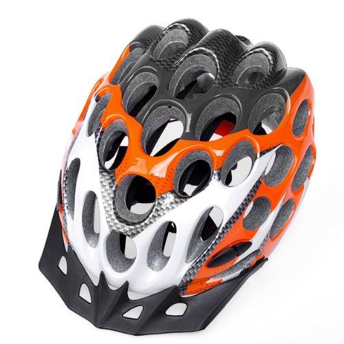 Sport Climbing Racing Hero Bicycle Honeycomb Shape For Adult Men Bike Helmet Orange & White Brand New Warranty