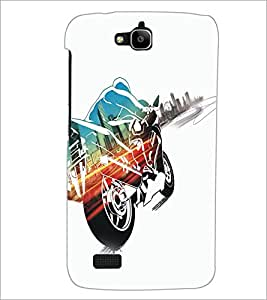 PrintDhaba Bike D-5361 Back Case Cover for HUAWEI HONOR HOLLY (Multi-Coloured)