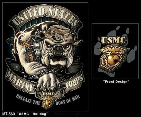 Marine Corps Bulldog Drawing