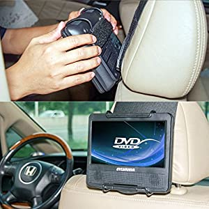 TFY Car Headrest Mount Holder for SYLVANIA SDVD9805 Portable DVD Player (Also fit all 7 inch - 10 inch Portable DVD Player)