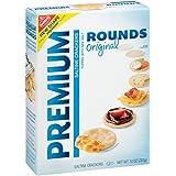 Premium Rounds Original Saltine Crackers, 10 Ounce (Pack of 6)