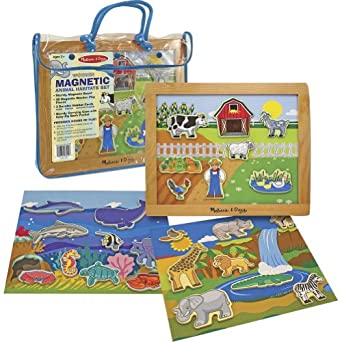 Melissa & Doug Deluxe Magnetic Animal Habitats Set