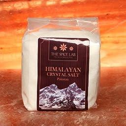4.4 Pounds (2 - 1 Kilo bags) - White Himalayan Crystal Bath Salt - Crystal - Fast Dissolving ( Fine Grain )