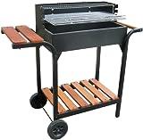 Holzkohlegrill hochwertig mit Holzablage und stabilem Grillgehäuse-KMfiremaker