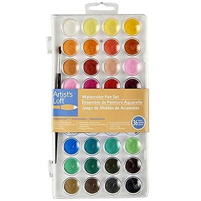 Artists Loft Fundamentals Watercolor Pan Set