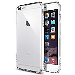iPhone 6 Plus Case, Spigen® [Ultra Hybrid Series] AIR CUSHION [Crystal Clear] Air Cushion Technology Corners Bumper Case with Clear Back Panel for iPhone 6 Plus (2014) - Crystal Clear (SGP10900)