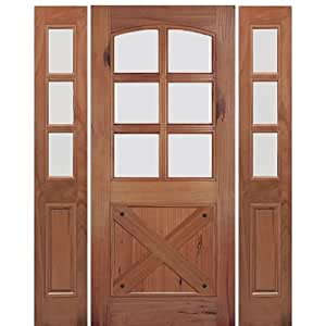 Rustic divided lite entry door a79gs 1 2 mai doors for 9 lite crossbuck exterior door