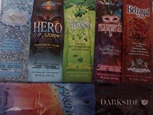 We Ship These Within 24 Hours of Payment! Lot of 7 Packets 2010 Designer Skin Tanning Lotion Sample Packets Luminary Masquerade Betrayal Aphrodisiac Hero Worship Tanning Lotion Packettes
