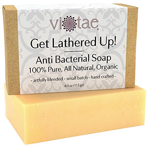 Organic ANTIBACTERIAL Soap - by Vi-Tae - 100% Pure, All Natural, Aromatherapy LUXURY Herbal Bar Soap - 4oz (Natural Antibacterial Soap compare prices)