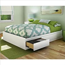 Hot Sale South Shore Storage Full Bed Collection 54-Inch Full Mates Bed, Pure White