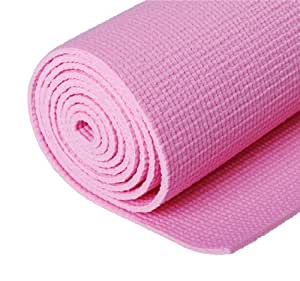 "74"" Deluxe Yoga Mat Exercise Floor Mat Comfortable Multi-Use Pure Pink"