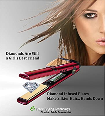 Best Cheap Deal for 6th Sense Styling Technology FH-1RD Flat Iron Hair Straightener with Diamond Tourmaline Infused 1-Inch Floating Ceramic Plates and Case from Lions Share LLC - Free 2 Day Shipping Available