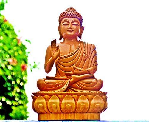 8-cm-Hoch-Groe-Buddha-Statue-Aus-Holz-Geschnitzt-Handgefertigt-Holz-Buddha-Figur-Buddha-Skulptur-Hand-mit-in-a-Blessing-Geste-Sitting-auf-LOTUS-Buddha-Geschenke-Und-Kinderzimmer-Dekoration-fr-Ihr-Zuha