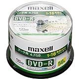 【Amazonの商品情報へ】maxell データ用 DVD-R 16倍速対応 プリンタブル ホワイト 50枚入 DR47PTWD.50SP