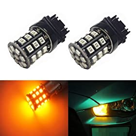 JDM ASTAR AX-2835 Chipsets 3056 3156 3156 3157 LED Bulbs for Turn Signal,Amber Yellow