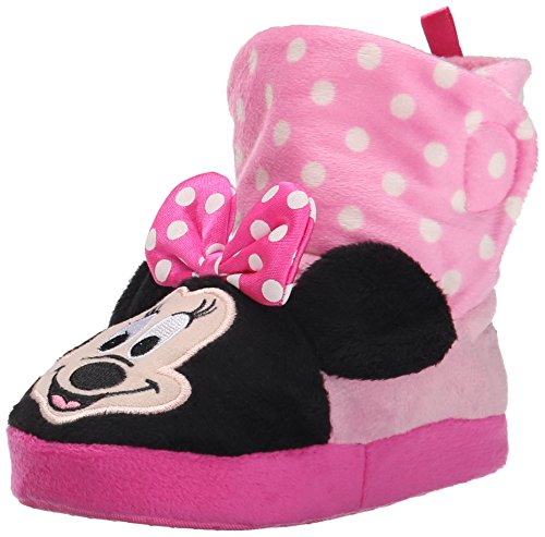 Disney Minnie Mouse 205 Slipper (Toddler), Pink, Large (7/8 M US Toddler)