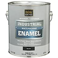 - W66B00811-16 Do it Best Waterborne Industrial Enamel-GLS BLACK LATEX PAINT