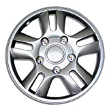 TuningPros WSC-006S15 Hubcaps Wheel Skin Cover 15-Inches Silver Set of 4