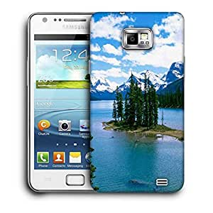 Snoogg Christmas Trees And River Printed Protective Phone Back Case Cover For Samsung Galaxy S2 / S II