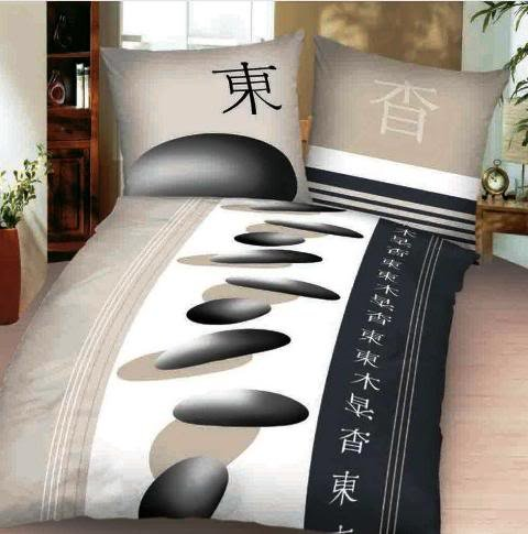 2 tlg microfaser bettw sche 155 220 cm asia china zeichen symbole g nstige. Black Bedroom Furniture Sets. Home Design Ideas