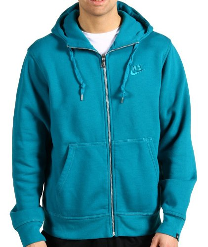 Nike Men's AW77 Full Zip Hoodie Sweatshirt Jumper Turquoise 3XL