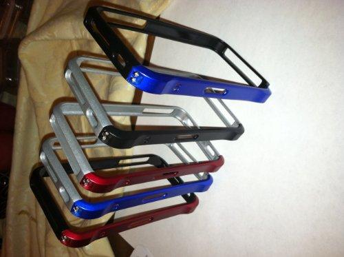 Aluminum Metal Bumper Case for the Apple iPhone 4 (Blue)