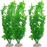 Sourcingmap Fish Tank Artificial Plants, 10.6-inch, 3 Pieces, Green
