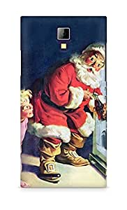 Amez designer printed 3d premium high quality back case cover for Micromax Canvas Express A99 (Santa Claus cool drink Fridge)