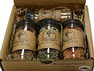 Wedding Shower Spices ~ Gift Set by High Plains Spice Company ~ Gluten-Free Gourmet Meat and Veggie Spice Blends & Rubs For Beef, Chicken, Veggies & All Cooking Recipes ~ Spice Blends Handcrafted In Colorado, USA (Wedding Shower Spices)
