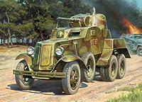 Zvezda Models BA-10 Soviet Armored Car WWII Vehicle Building Kit, Scale 1/100 from Zvezda Models