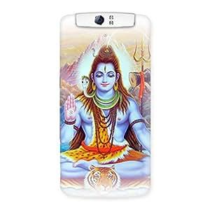 Impressive Blessings Of Shiva Back Case Cover for Oppo N1