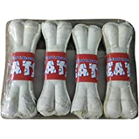 TREATS Dog Rawhide Pressed Dog Bone- 5 Inches, Pack Of 4