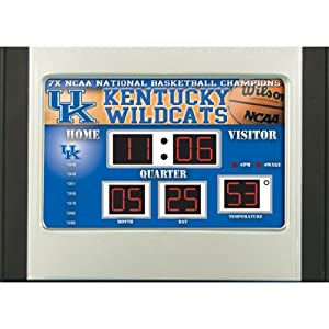 Buy Team Sports America Kentucky Wildcats 6.5x9 Scoreboard Desk Clock by Team Sports America