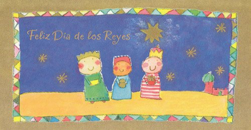 Greeting Christmas Card Three Kings Day Spanish Gift Card/ Money Holder