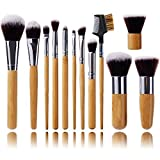 Jmkcoz 12pcs Makeup Brushs Makeup Applicator Professional Makeup Brush Set Kit with Bamboo Handle