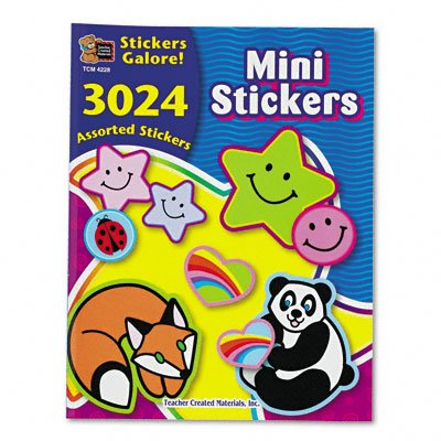 Teacher Created Resources 4228 Teacher Created Resources Sticker Books, Mini Stickers, 3,024 Stickers/pack - 1