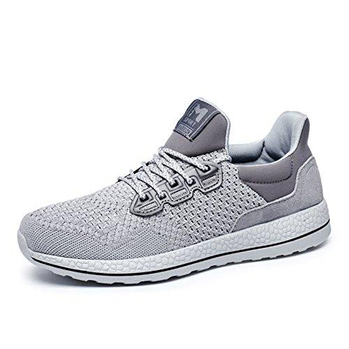 Scarpe sportive uomo estate/Mesh traspirante scarpe/Mesh scarpe/Fly maglia scarpe casual maschile-B Lunghezza piede=26.8CM(10.6Inch)