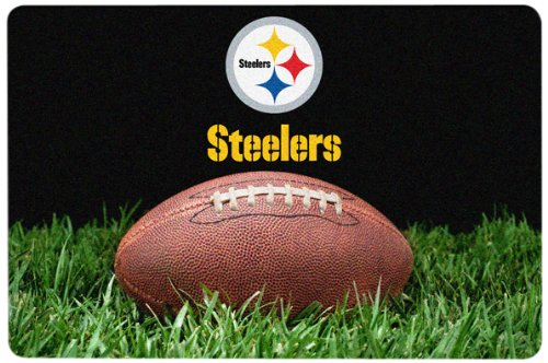 NFL Pittsburgh Steelers Classic Football Pet Bowl Mat, Large from SteelerMania