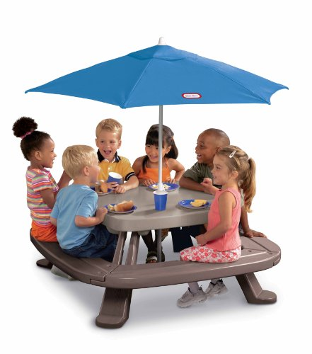 Little Tikes Fold 'n Store Picnic Table with Market Umbrella (Outdoor Kid Furniture compare prices)