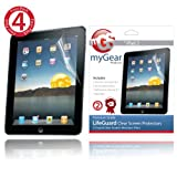 myGear Products LifeGuard Screen Protector Films for Apple iPad 2 & The new iPad 3 3rd Generation - 4-Pack Clear NEWEST MODEL ~ myGear Products