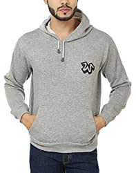 Weardo Men's Fleece Sweatshirt (WWWGreyHood_Grey_Large)