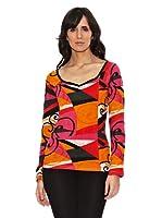 Janis Camiseta Estampado Geométrico (Multicolor)