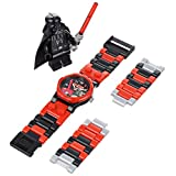 Reloj LEGO 9002908 Star Wars Darth Vader con Enlaces Intercambiables de Color Rojo, Gris y Negro para Niño
