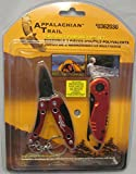 Appalachian Trail 2 Pc Multipurpose Tool Set Red #0362030 Pliers Knife Light
