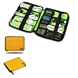 Damai Universal Cable Organizer Electronics Accessories Case USB Drive Shuttle (Yellow)