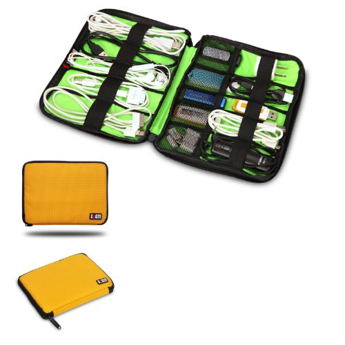 Damai Universal Cable Organizer Electronics Accessories Case Usb Drive Shuttle/ Healthcare & Grooming Kit (Yellow) front-263541