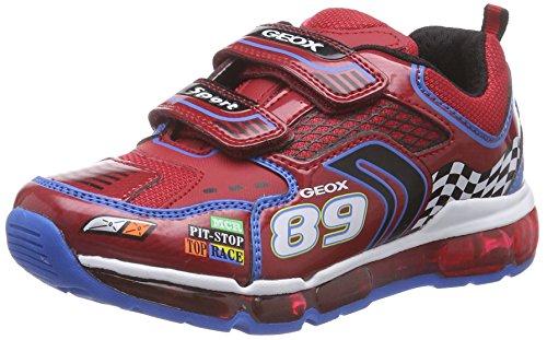 Geox J Android Boy A, Sneaker, Ragazzo, Multicolore (Mehrfarbig (C7239RED/SKY)), 33